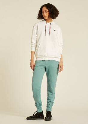 Paul Smith Women's Pale Turquoise Zebra Logo Organic-Cotton Sweatpants