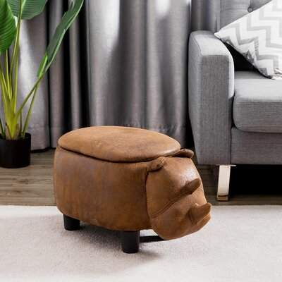 Isa Belle Isabelle & Max Ravella Rhinocer Leather Storage Ottoman Kids Ottoman Isabelle & Max