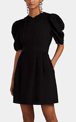 Laura Garcia Collection Women's Odile Silk-Linen Minidress - Black