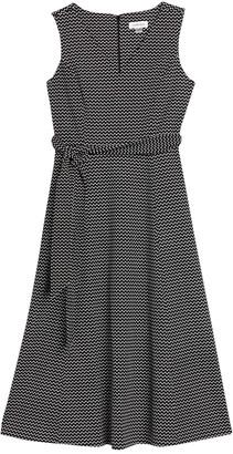 Calvin Klein V-Neck Sleeveless A-Line Midi Dress