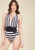 ModCloth Divine By the Shoreline One-Piece Swimsuit in M