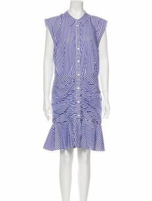 Veronica Beard Striped Knee-Length Dress w/ Tags Blue