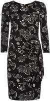 Biba Oriental printed jersey wrap dress