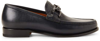 Bruno Magli Navy Enzo Leather Loafers