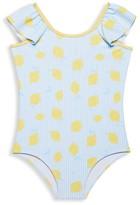 Andy & Evan Little Girl's & Girl's Back Bow Lemon One-Piece Swimsuit