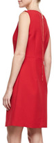 Laundry by Shelli Segal Sleeveless Jewel-Neck Crepe Dress