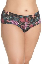 Hanky Panky Plus Size Women's Moody Blooms Retro Thong
