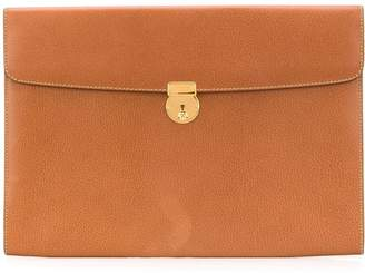 Gucci Pre-Owned textured leather clutch