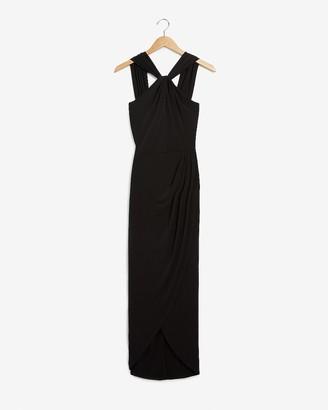 Express Halter Wrap Midi Dress