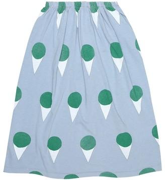 Ladybug printed cotton-jersey skirt