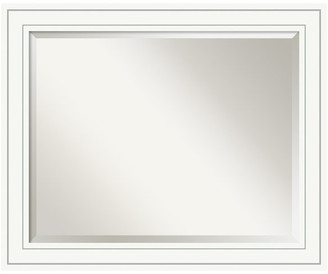 "Amanti Art Bathroom Mirror, Fits Standard 30 to 36 Cabinet, Craftsman White, 33""x"