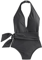 J.Crew Deep-V wrap one-piece swimsuit