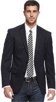 DKNY Jacket, Black Check Slim Fit Blazer