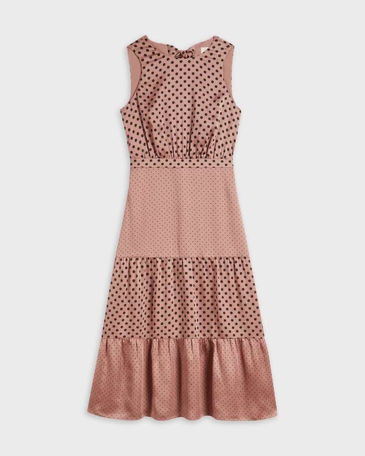 Thumbnail for your product : Ted Baker IZZIIE Mix Polka Dot Midi Dress