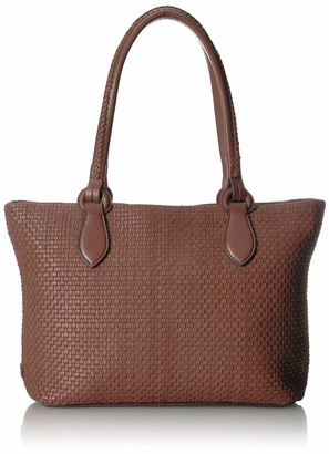 Cole Haan Women's Bethany Woven Leather Zip Tote