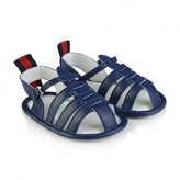 Gucci GUCCINavy Leather Pre Walker Sandals