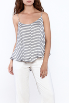 Free People Blue Striped Sleeveless Top