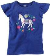 Carter's Girls 4-8 Embroidered Horse Graphic Tee