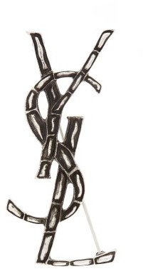 Saint Laurent Opyum Crocodile-effect Brooch - Womens - Silver