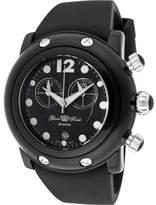 Glam Rock Women's GK1145 - Black Silicone/Black Chronograph Watches