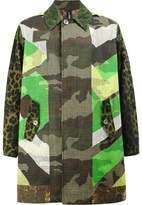 Herno reversible printed coat