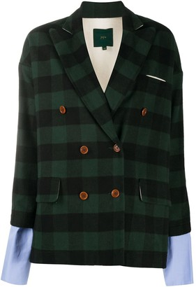 Jejia Checked Double Breasted Blazer