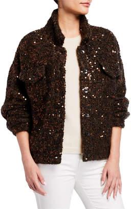Brunello Cucinelli Button Front Linen/Silk Cardigan