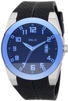 Fossil Relic by Men's Jake Stainless Steel Analog-Quartz Silicone Strap