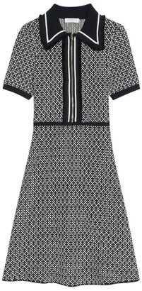 Sandro Paris Knitted Zip-Up Dress