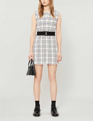 Maje Rianey woven mini dress