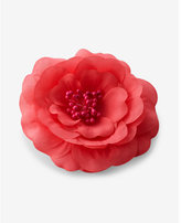 Express bright pink flower hair clip and pin