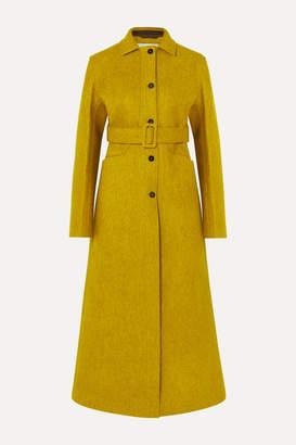 Jil Sander Belted Wool-blend Felt Coat - Chartreuse