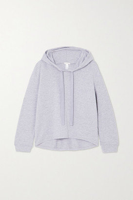 Eberjey Blair Stretch Pima Cotton And Modal-blend Hoodie - Gray