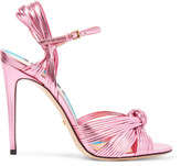 Gucci Metallic Leather Sandals - Pink