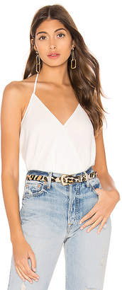 Bobi BLACK Date Night Chiffon Draped Cami