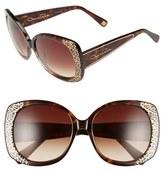 Oscar de la Renta '212' 56mm Metal Filigree Square Sunglasses