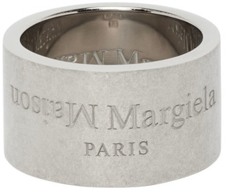 Maison Margiela Silver Wide Logo Ring