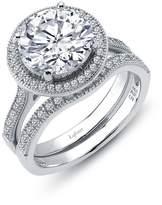 Lafonn Rhonda Faber Green Sterling Silver Platinum Plated Lassire Simulated Diamond Ring (4.52 CTTW)