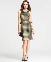 Peplum Dot Jacquard Dress