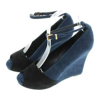 Celine Blue Suede Sandals