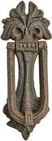 Rejuvenation Cast Iron Door Knocker w/ Stylized Acanthus Motif