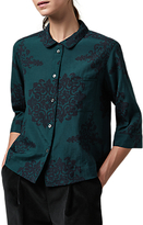 Toast Heze PJ Shirt, Beetle Green/Navy