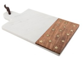 Thirstystone Stars Marble & Wood Cheese Board