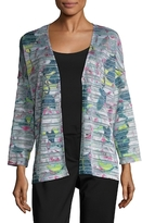 St. John Ibiza Rose Floating Stripe Artisan Jacket