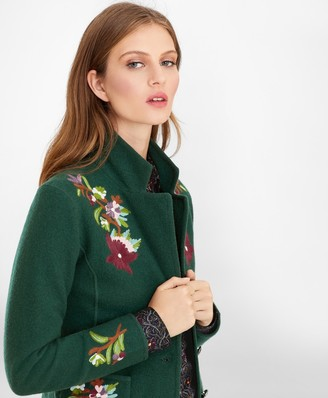 Brooks Brothers Floral-Embroidered Merino Wool Jacket