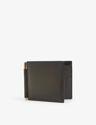 Tom Ford Burnished money-clip leather wallet