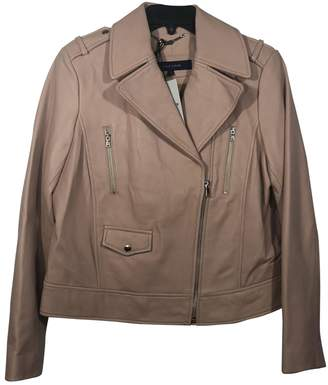 Cole Haan Beige Leather Leather Jacket for Women