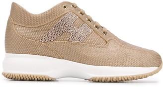 Hogan Interactive rhinestone-embellished sneakers