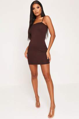 I SAW IT FIRST Chocolate Square Neck Cami Dress