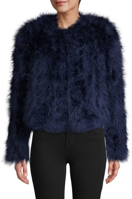 LAMARQUE Roundneck Feather Jacket
